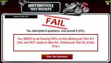 Failed Motorcycle Test