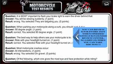 Practice Motorcyle Test Review